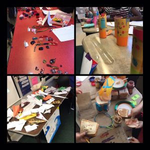 Market Day Products - Shrinky Dinks, paper crafts (airplanes, mermaids & owls), peanut butter and jelly sandwiches